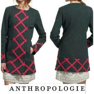 ELEVENSES Anthro Tamarisk Lattice Knit Coat 0